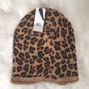 NWT BP Leopard beanie from nordstroms